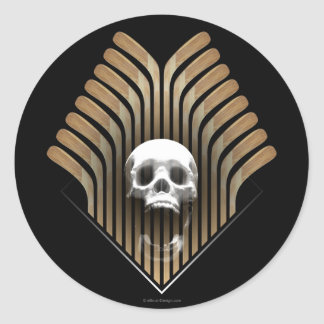Skull & Sticks (Hockey) Round Sticker