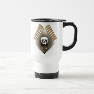 Skull & Sticks (Hockey) Stainless Steel Travel Mug