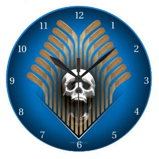 Skull & Sticks (Hockey) Wall Clocks