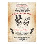 Skull Stock The Bar Party Halloween Gothic Invite