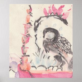 skull swan poster