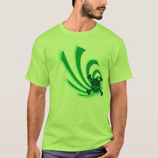 skull swirl green T-Shirt