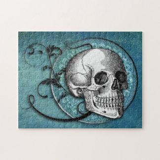 Skull & Swirls Teal Puzzle
