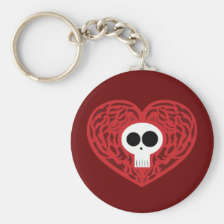 Skull Tattoo Heart Keychains