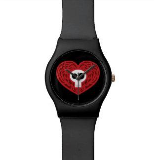 Skull Tattoo Heart Watch