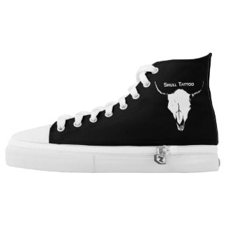Skull Tattoo High Tops