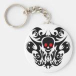 skull tattoo keyring key chain