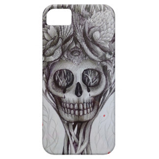 skull tattoo style iPhone tree roots head art iPhone 5 Covers
