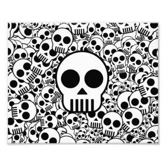 Skull Texture Black White Surface Photograph