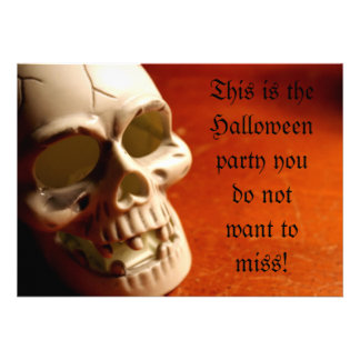 Skull This is the Halloween party you do not w Custom Invitation