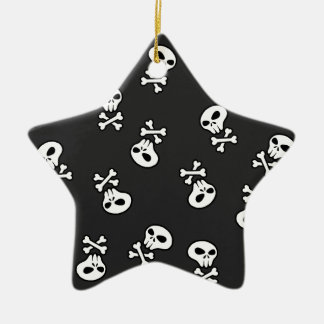skull tile ceramic star decoration