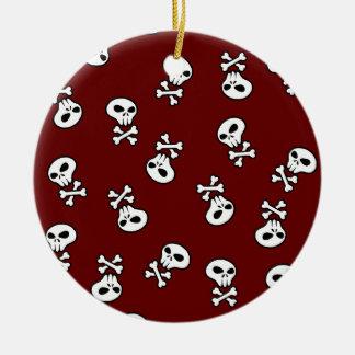 skull tile christmas ornament