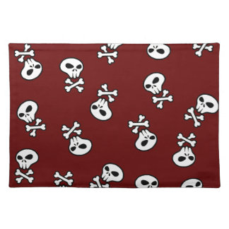 skull tile placemat