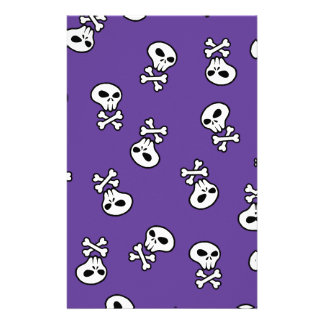 skull tile stationery