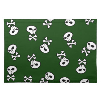Skull tiles placemat