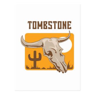 SKULL TOMBSTONE AZ POST CARD