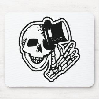 Skull Top Hat Gentleman B W Mousepads