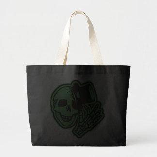 Skull Top Hat Gentleman Green Bags