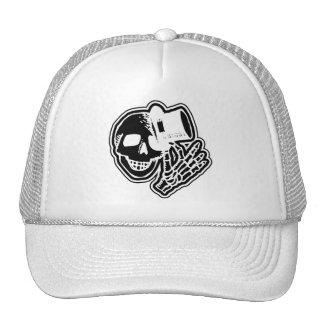 Skull Top Hat Gentleman Negative B&W