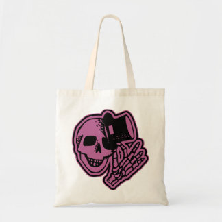 Skull Top Hat Gentleman Pink Canvas Bag