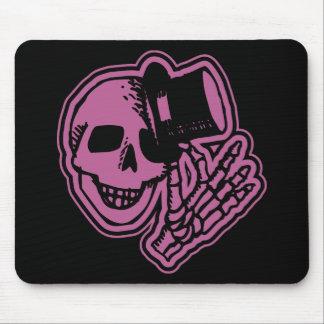 Skull Top Hat Gentleman Pink Mousepad