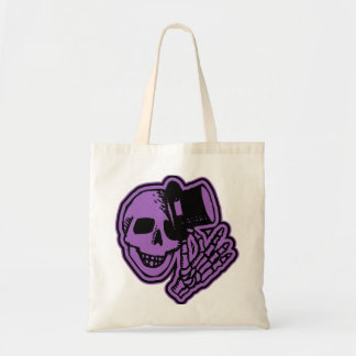 Skull Top Hat Gentleman Purple Canvas Bags