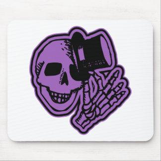 Skull Top Hat Gentleman Purple Mousepad