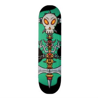 Skull Totem Skateboard