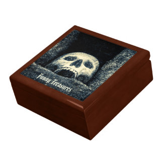 Skull Treasure Chest Funny Treasures Gift Box