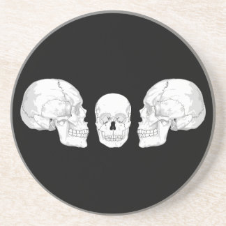 Skull Trio Beverage Coasters