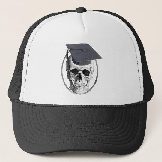 Skull Truck Driving School Graduate Trucker Hat