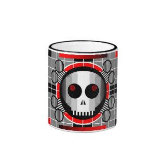 Skull TV ringer mug