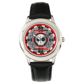 Skull TV Round kid's adjustable bezel watch