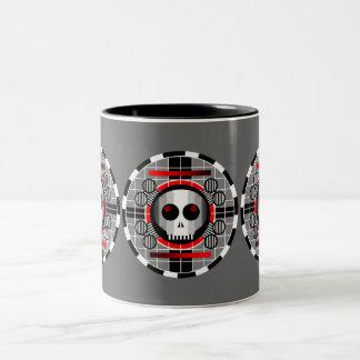 Skull TV Round mug grey