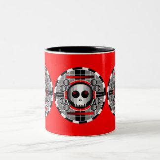 Skull TV Round mug red