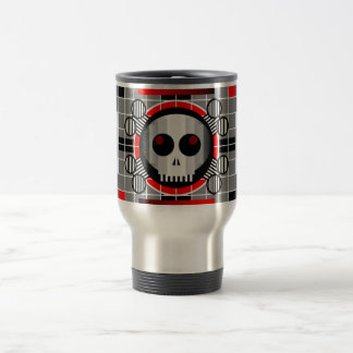 Skull TV travel commuter mug