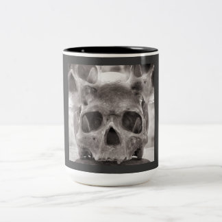 Skull Two-Tone Coffee Mug