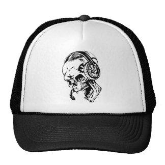 Skull using Headphone Mesh Hat