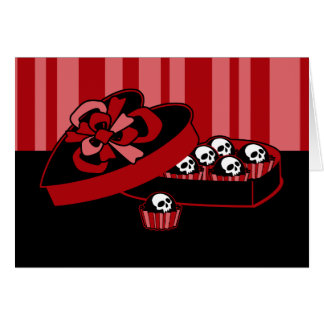 Skull Valentine Candy Card