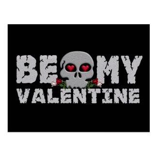 Skull Valentine postcard