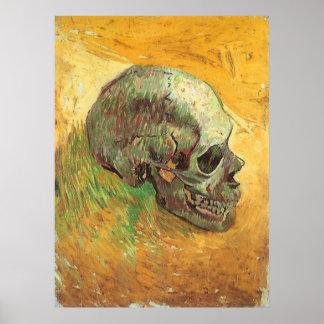 Skull Vincent van Gogh Vintage Impressionism Art Posters