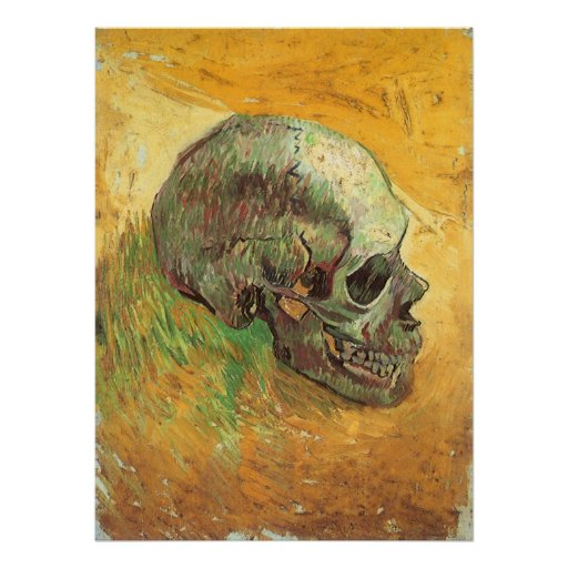 Skull, Vincent van Gogh, Vintage Impressionism Art Posters