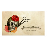 skull vintage floral hairstylist hair stylist business card templates