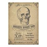 Skull Vintage Halloween Invitation