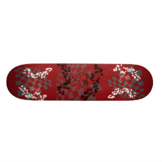 Skull w/ Hearts Skateboard