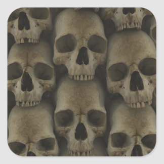 Skull Wall Square Sticker