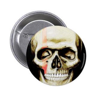 skull warpaint 6 cm round badge