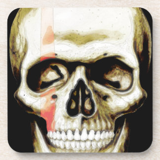 skull warpaint beverage coaster