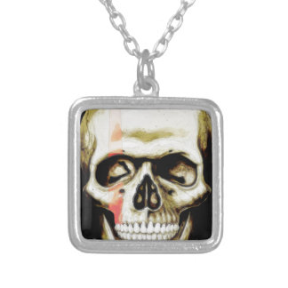 skull warpaint personalised necklace