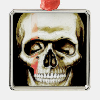 skull warpaint Silver-Colored square decoration